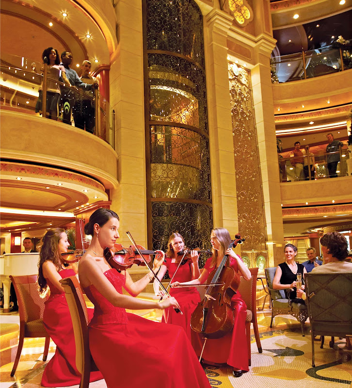 Don't be surprised if a symphony breaks out on your Princess cruise. The ship's piazza-style atrium features live entertainment, spiral staircases and dining and cocktail lounge options.