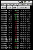 Screenshot of Virtual Stock Market