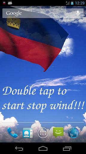 3D Liechtenstein Flag LWP