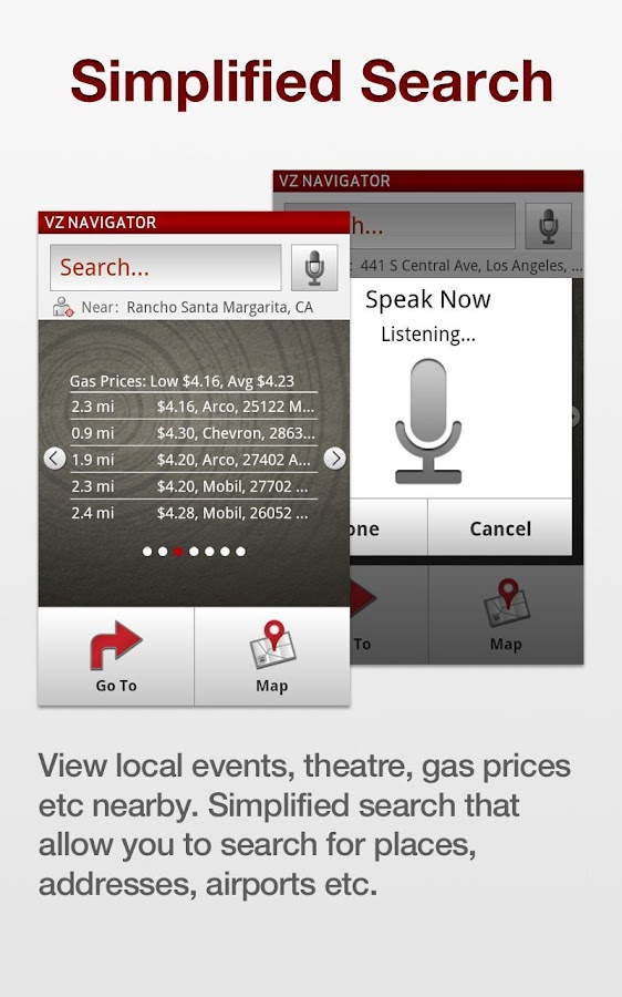 VZ Navigator for LG Spectrum - screenshot