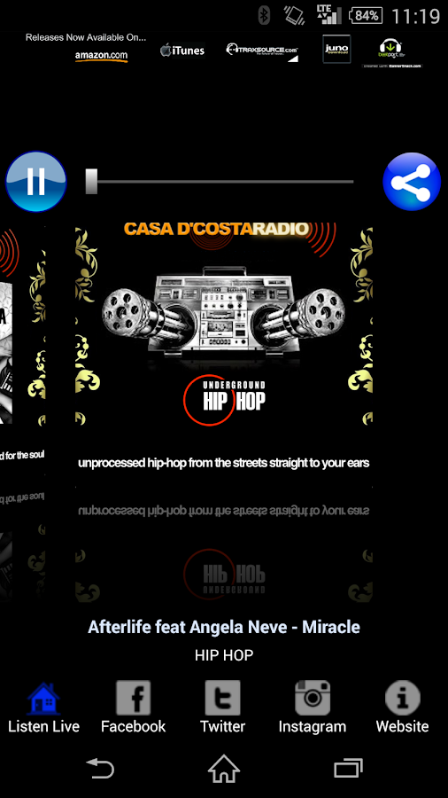Casa D'Costa Radio- screenshot
