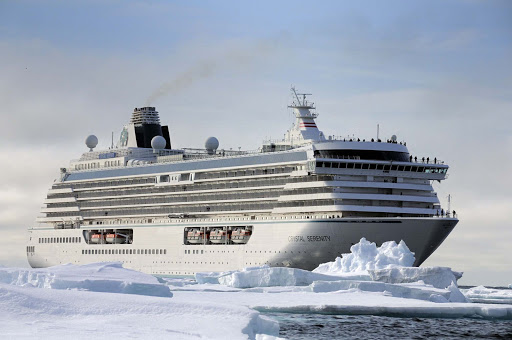 Crystal-Serenity-North-Cape-Ice-Barrier - Sail to Alaska on Crystal Serenity to explore the Last Frontier in style and comfort.