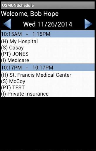 USMON Schedule