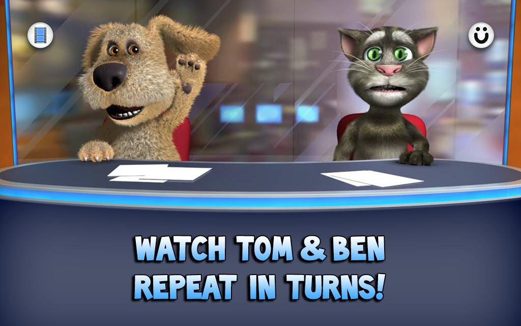 Screenshots of Talking Tom & Ben News for iPhone