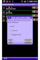 Screenshot of uNagi Nagios client on android