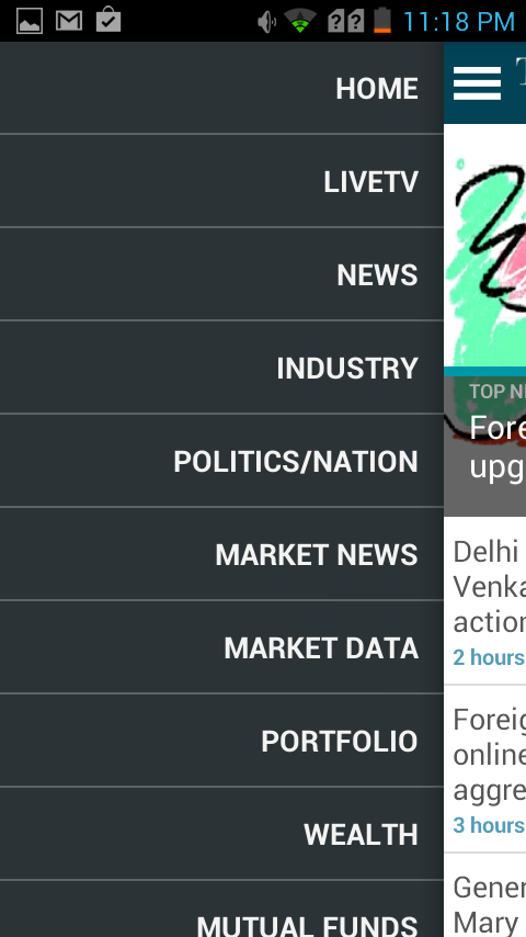 Economic Times News : NSE, BSE- screenshot