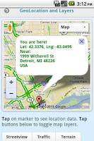 Screenshot of GMap Demo by AppLaud