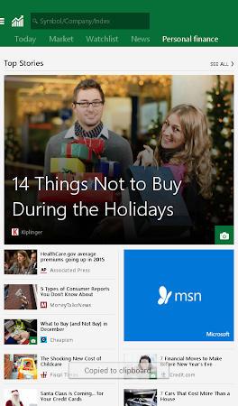 MSN Money- Stock Quotes & News 1.1.0 screenshot 18742