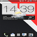 Slate Red - Sense 4+ HD Skin icon