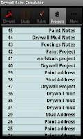 Screenshot of Drywall Calculators