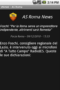 zNews - ASRoma - screenshot thumbnail