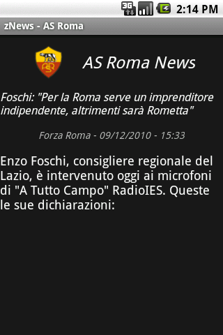 zNews - ASRoma- screenshot