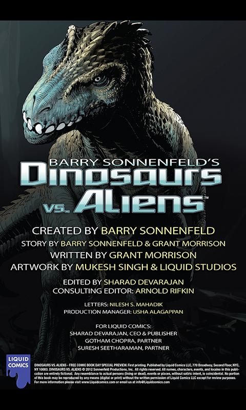 Dinosaurs vs Aliens FCBD- screenshot