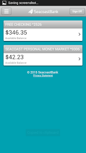 SeacoastBank Personal Banking- screenshot thumbnail