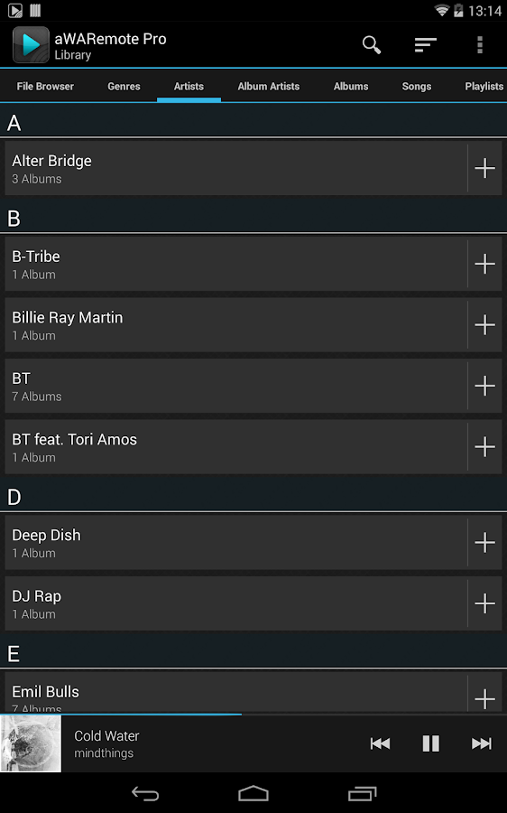 aWARemote for Winamp®- screenshot