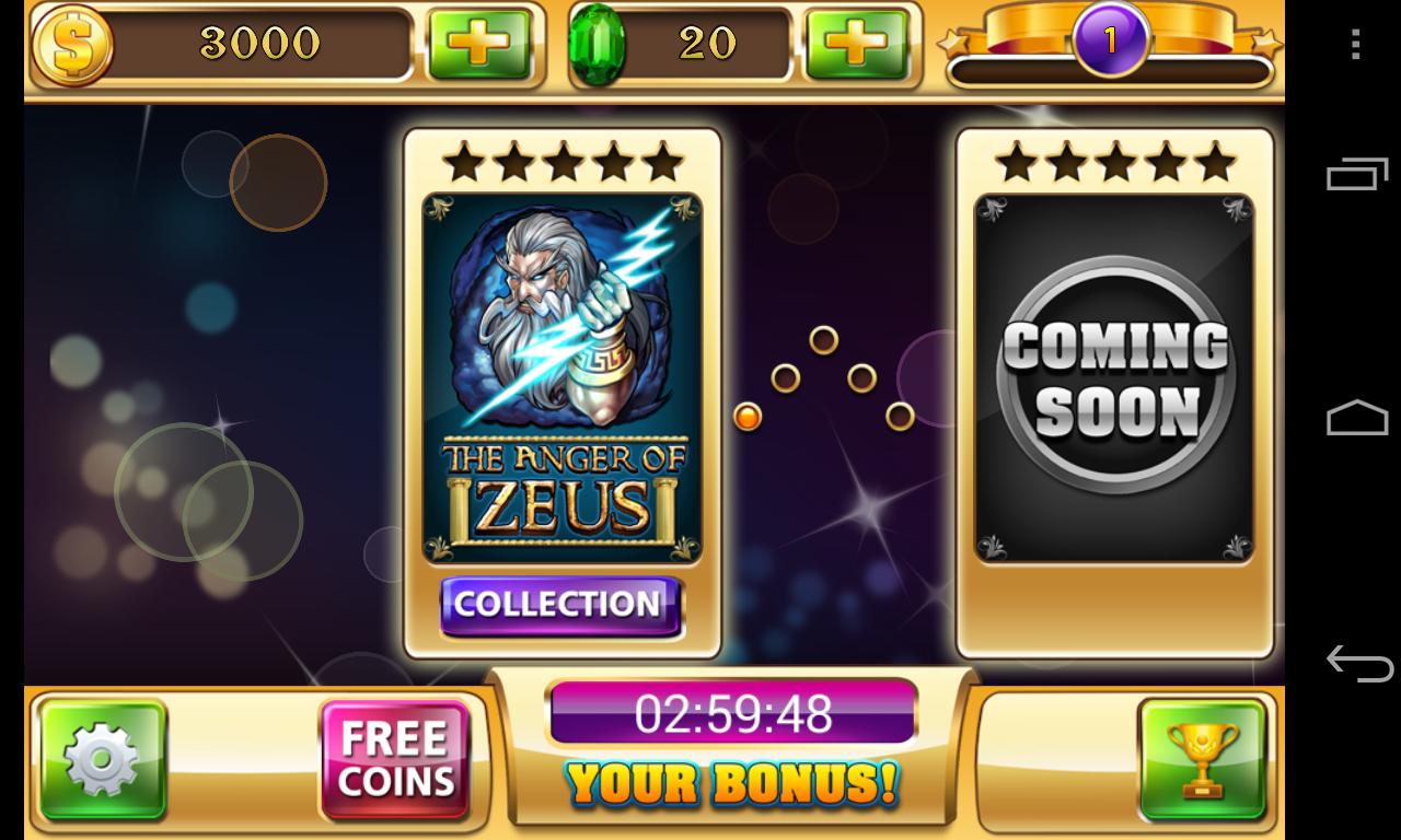 Slots - Zeus's Wrath - screenshot