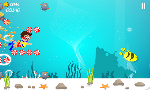 玩免費動作APP|下載糖果游泳潛水挑戰 app不用錢|硬是要APP