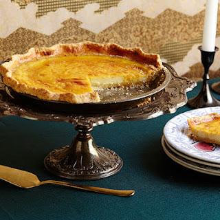 Spiced Custard Pie with Sesame Crust.