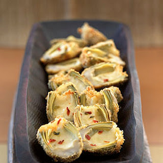 Deep-Fried Baby Artichokes Stuffed with Pepper Jack Cheese.