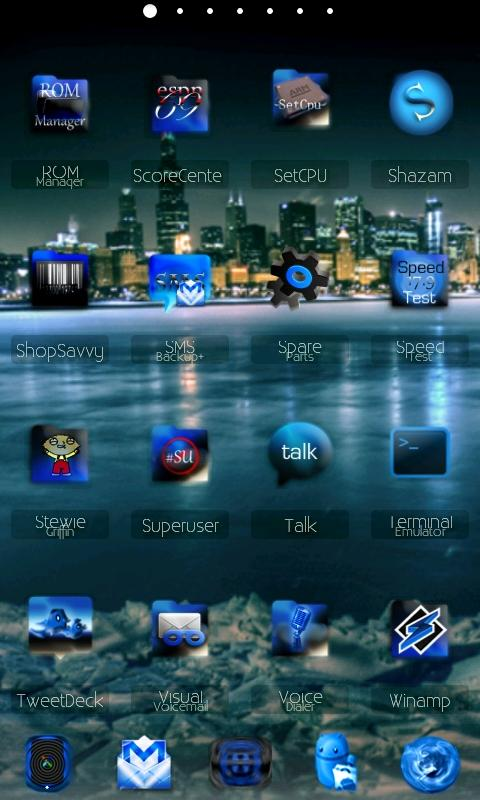 ADWTheme BlackIceADW - screenshot