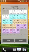 Screenshot of Shift Calendar / Schedule