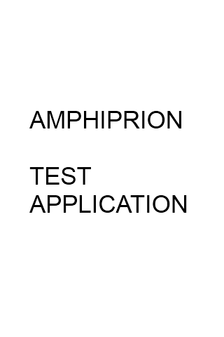 Test Application Amphiprion - screenshot