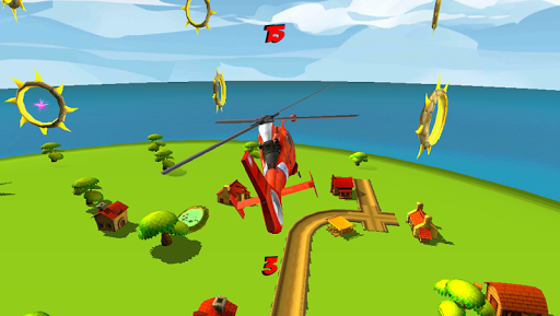 Helicopter Flying Race Game 3D