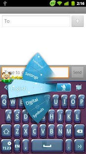 GO Keyboard Aries theme - screenshot thumbnail