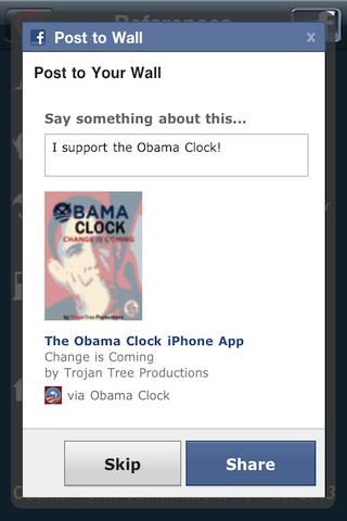 Obama Clock - screenshot