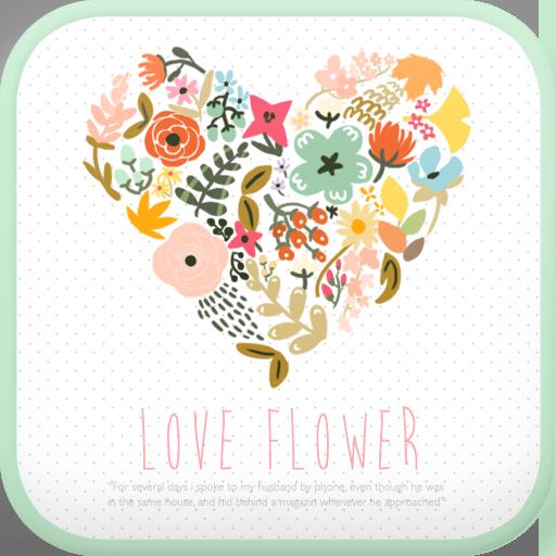 Love Flower go launcher theme