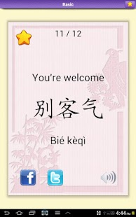 Chinese Vocabulary Flashcards- screenshot thumbnail