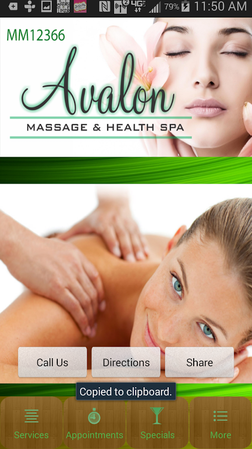 Avalon Massage- screenshot