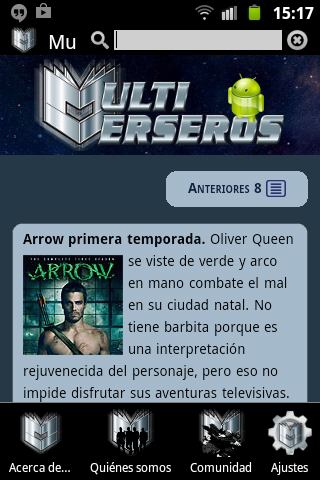 Multiverseros Mobile: captura de pantalla
