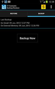 Contacts Backup - AUTOMATIC - screenshot thumbnail