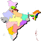 Indian state map for kids