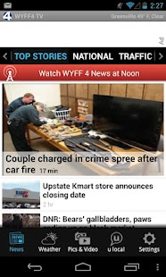 WYFF Greenville news, weather - screenshot thumbnail