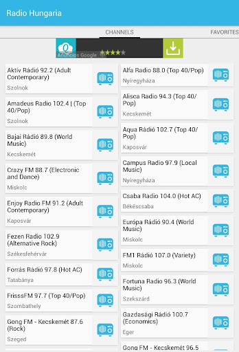 Radios de Hungría