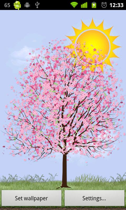 Lonely Cherry Blossom Tree LW- screenshot