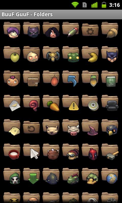 BuuF GuuF - Folders ADW and Go- screenshot