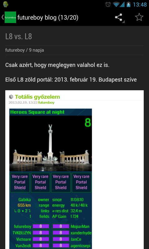 Ingress Enlightened Hungary - screenshot