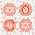 Pink anemone Atom theme icon