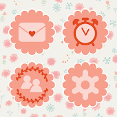 Pink anemone Atom theme