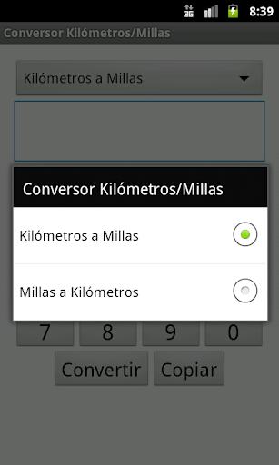Conversor Kilómetros Millas