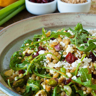 Wheatberry Salad with Cranberries, Feta and Orange Citronette