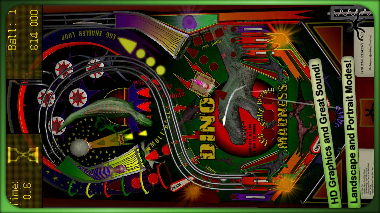 Dino Madness Pinball Lite - screenshot