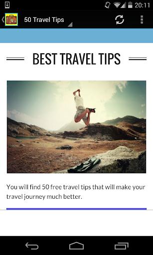50 Best Travel Tips