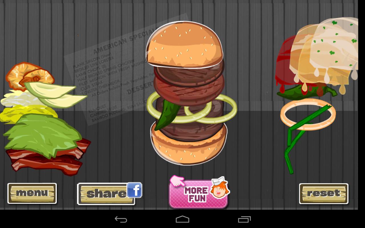 Hamburger Designer - screenshot
