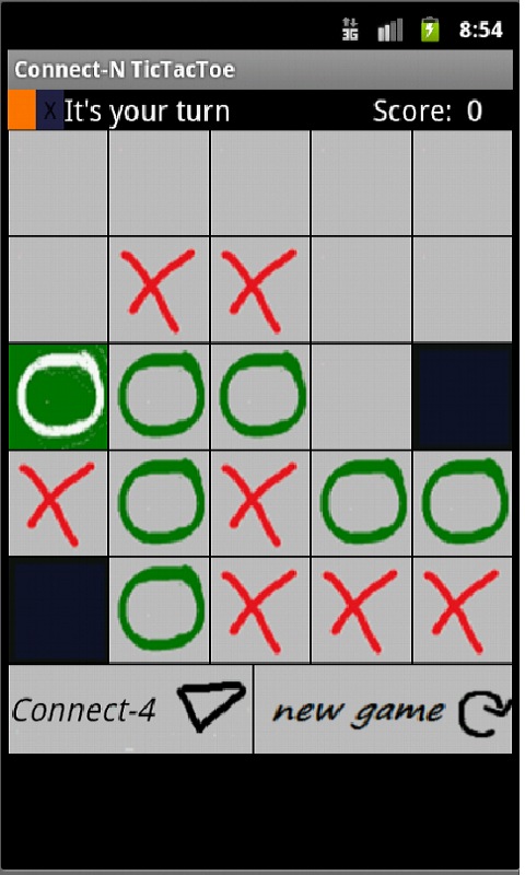 TicTacToe + 4 in a row- screenshot