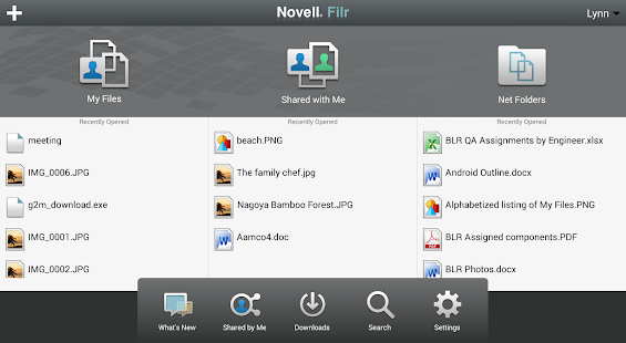Novell Filr - screenshot thumbnail