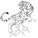 Tiger Tattoo Design Wallpaper icon